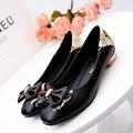 2017 Mujeres de la Marca de La Pu de Cuero Zapatos Slip On Zapatos Mocasines Mujer Zapatos Hechos A Mano de Plata negro Slipony Alta Calidad