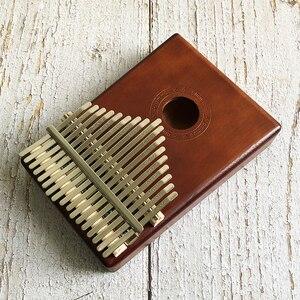 Image 5 - חדש 17 מפתח קלימבה אפריקאי מוצק עץ אגודל אצבע פסנתר Sanza Mbira Calimba לשחק עם גיטרה עץ כלי נגינה