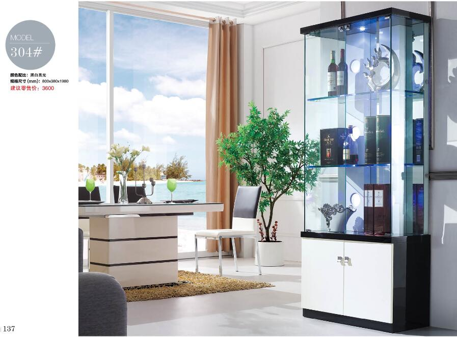 310# Living room furniture display showcase wine cabinet living room ...