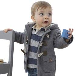Nuovo Inverno Cotone Neonato Ragazze Giacche Bambino Casuale Caldo Con Cappuccio Bambini Ragazzo Giacche Vestiti Della Tuta Sportiva