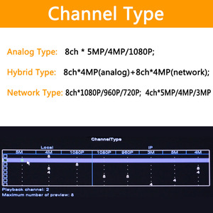 Image 3 - 6 ב 1 H.265 + 8ch AHD וידאו היברידי מקליט עבור 5MP/4MP/3MP/1080 P/ 720P מצלמה Xmeye Onvif P2P CCTV DVR AHD DVR תמיכת USB wifi