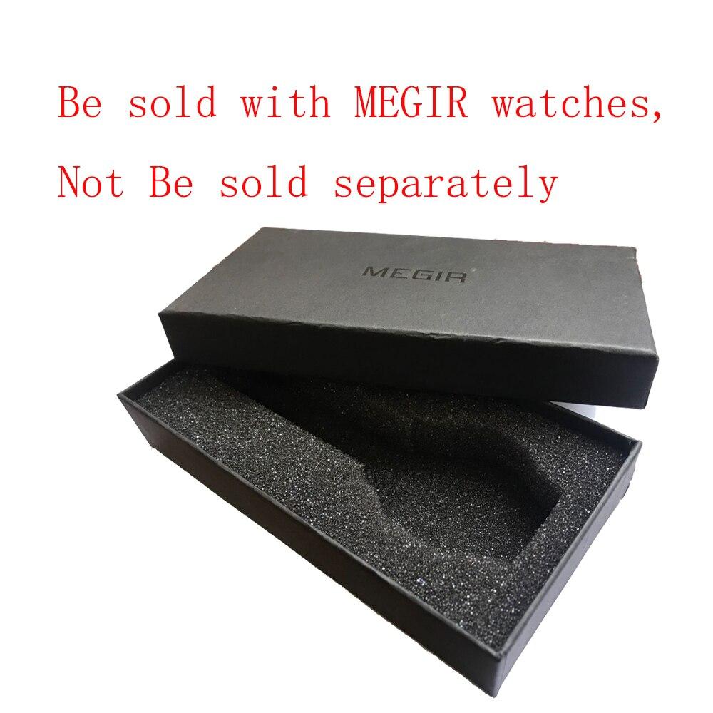MEGIR pur carré en forme de papier boîte cadeau emballage pour montres montres boîtes