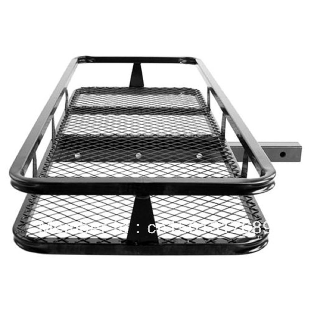 Hitch Mounted Cargo Carrier Luggage Basket Trailer