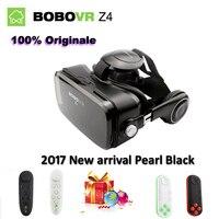 Origine Autorisé BOBOVR Z4 En Cuir 3D Carton Casque de Réalité Virtuelle VR Lunettes Casque Stéréo Boîte pour 4-6 «Mobile Téléphone