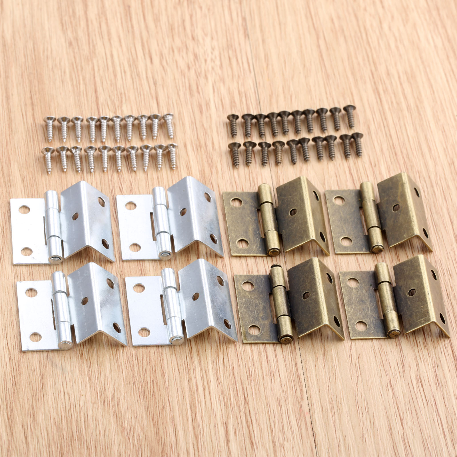 4Pcs 25*15*12mm Cabinet Hinge Door Luggage Furniture Jewelry Wood Boxes Vintage Chinese Old Hinge Furniture Decoration