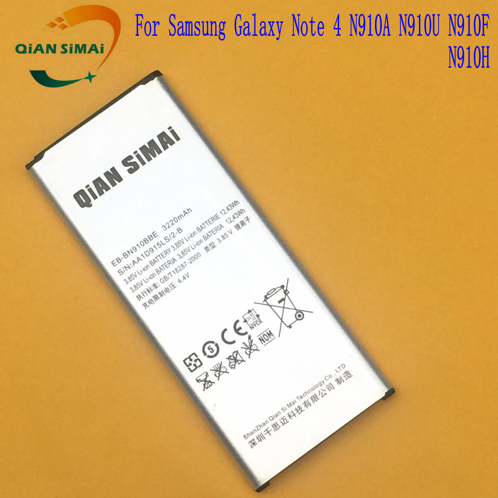 New 100% high quality Note 4 Battery for Samsung Galaxy Note IV 4 N910F N910H N910S N910U N910L N9100
