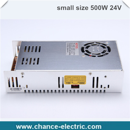 single output smaller volume LED Switching mode Power Supply mini size MS series 500W 24V 20A (MS-500W-24V) single output smaller volume led switching mode power supply mini size ms series 400w 12v 33a ms 400w 12v