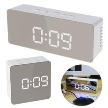 Digital LED Mirror Desktop Clock 12H/24H Alarm Desktop Thermometer Clocks White Light стоимость