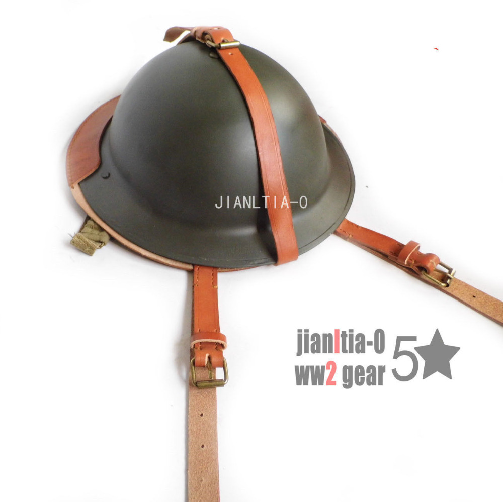 b65d3253776 WWII WW2 UK ARMY MK2 BRITISH TOMMY ARMY HELMET COVER LEATHER World military  Store-in Sports Souvenirs from Sports   Entertainment on Aliexpress.com ...