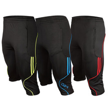 Мужские 3/4 шорты, новые футбольные штаны, тонкие спортивные штаны для пробежек, мужские тренировочные брюки для пробежки, футбольные мужские 3/4 штаны для тренировок по футболу