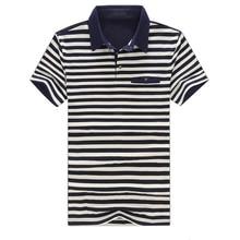 Camisa Pólo Homens de Fitness ocasional 2018 Verão Moda Masculina Camisa  Polo Marca de Algodão Listrado Dos Homens do Polo de Ma. 9b2f9c50e21bd
