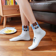 New Cute Kawai Cartoon Socks Women Cotton Funny Dog Pattern Lovely Animal Sock sox skarpetki