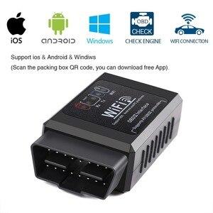 Image 3 - ELM327 V1.5 Scanner de voiture, outil de Diagnostic de voiture, câble OBD2, adaptateur Wifi, lecteurs de Code, Android