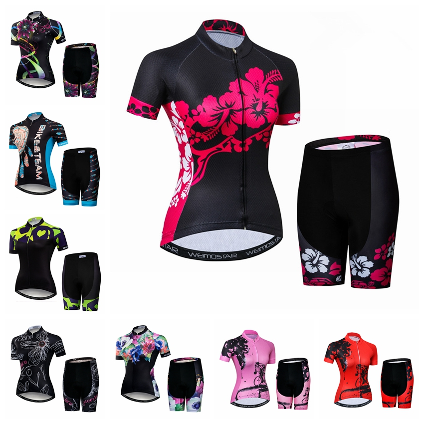 2019 Bike Jersey Set Women Cycling Jersey Shorts Mountian Road Bicycle Clothing Suit Team Shirts Ropa Ciclismo Bike Top Bottom