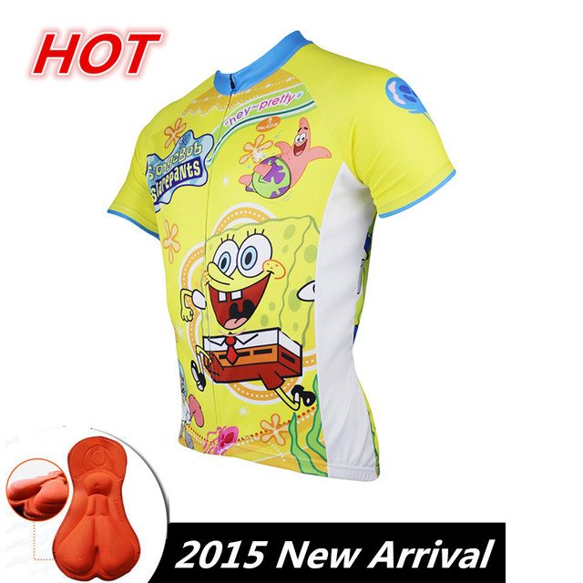 a8dc3bbfc 2015 Paladin SpongeBob Cycling Jersey Bicycle Short Sleeve Clothing Men  Outdoor Ropa Ciclismo Bicicletas MTB Fitness