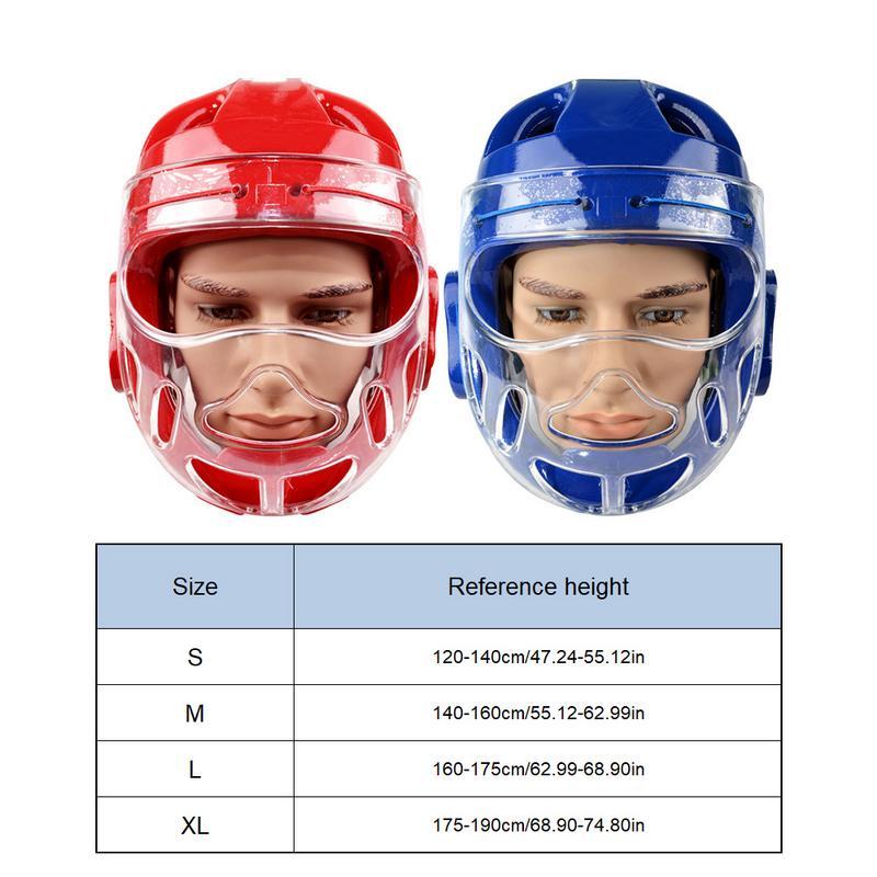 TOP TEN Clear Protective Martial Arts Headgear Facemask Shield PVC FREE SHIPPING