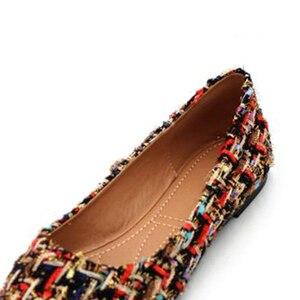 Image 4 - BEYARNE zapatos de marca de moda para mujer, zapatillas femeninas de tacón plano colorido con punta estrecha, náuticos, 2019