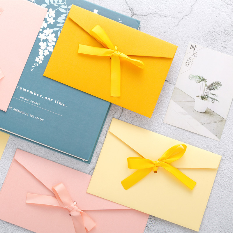 Image 4 - 40pcs/set Vintage Bow Pearl Colorfull blank mini paper envelopes DIY wedding invitation envelope /gilt envelope/12 color-in Paper Envelopes from Office & School Supplies