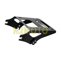Motorcycle Black Detachable Two Up Tour Pack Rack Passenger Carry Luggage Rack for Harley Road King Street Road Glide 2014 2016