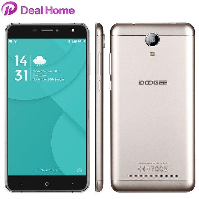 "6.0 ""оригинальный Doogee X7 Pro 4 г LTE Смартфон Android 6.0 MTK6737 4 ядра 2 ГБ + 16 ГБ 1280*720 8.0MP 3700 мАч Батарея"