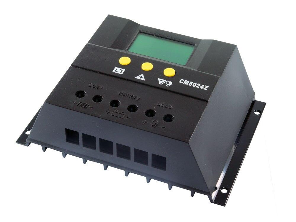 цена на CM5024Z 50A 12V/24V PWM Solar Panel Charge Controller Regulator Battery LCD Display