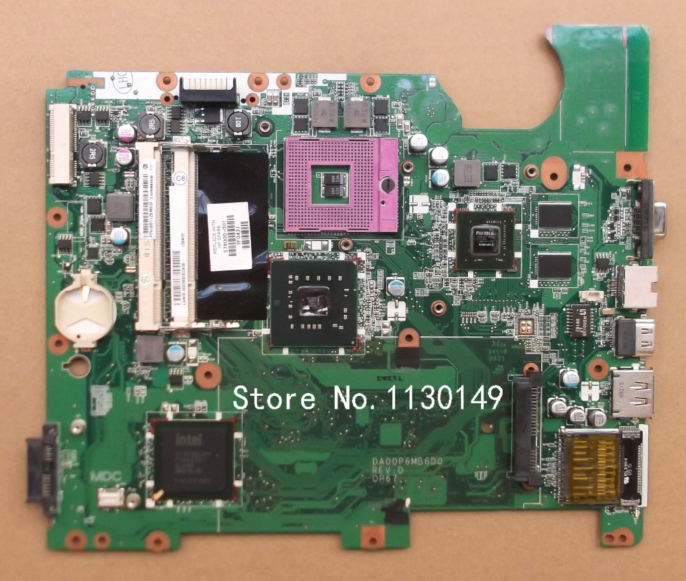 ФОТО for HP compaq presario CQ61 G61 motherboard 517837-001 laptop motherboard DA00P6MB6D0 PM45 chipset free shipping