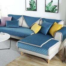 European Style Sofa Cover Thicken Velvet Slipcover Soft Non-slip Plush Couch Cover For Living Room 1/2/3 Seater Cover Set(China)