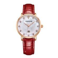 Reloj mujer Роскошные Часы Женщины Кварцевые Золотые Часы Кожаный Ремешок С Бриллиантами Мода Laies Часы Водонепроницаемые Часы montre роковой Подарок