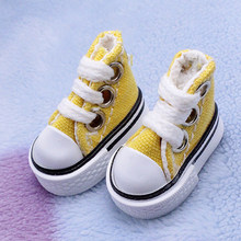 1 Pair Sneakers Toy Accessories Handmade Fashion Mini Joint Canvas Gift Doll Shoes Toy Lace Up DIY Baby Girl Boy(China)