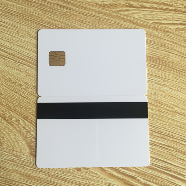 Contact smart Card Inkjet printable SLE4428 Chip with Hico magnetic stripe -10pcs 20pcs lot contact sle4428 chip gold card with magnetic stripe pvc blank smart card purchase card 1k memory free shipping
