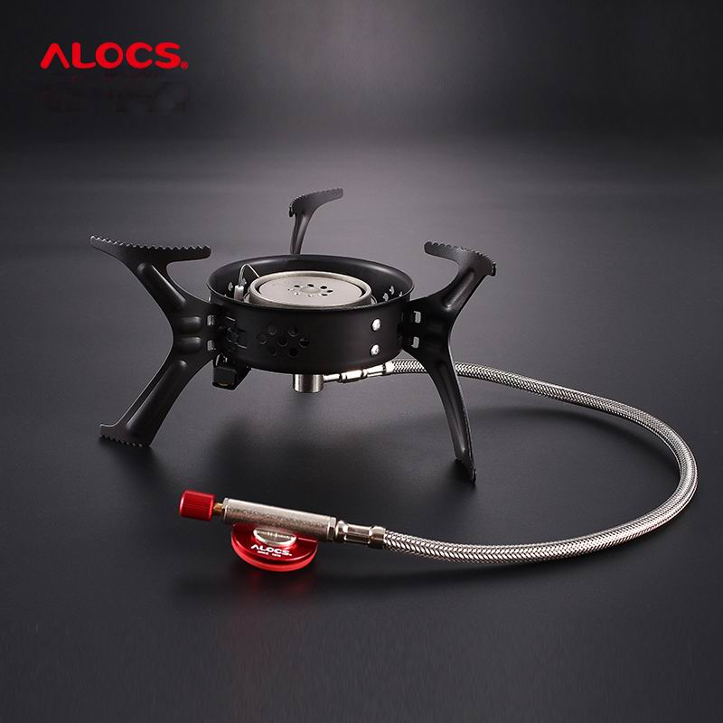 Alocs Outdoor 3200W Power Ultralight Folding Stove Cooking Furnace Split Gas Furnace Portable Stoves Camping Burners Cookers