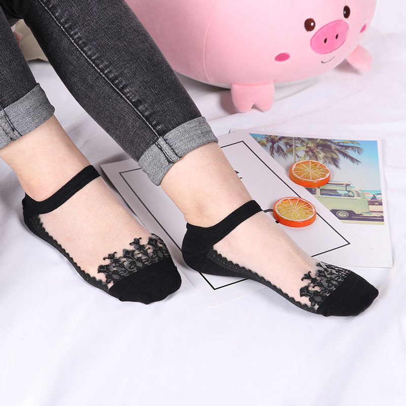 3 Pairs New Elegant Women Girls Cotton Comfortable Solid Dot Spring Summer Wear Low Ankle Invisible Elastic Short Socks