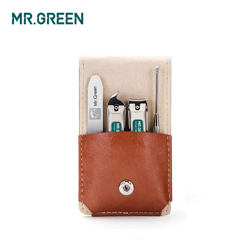 MR.GREEN  Manicure Set Professional Stainless Steel Nail Clippers Oblique Cut  Ear Spoon  Nail File