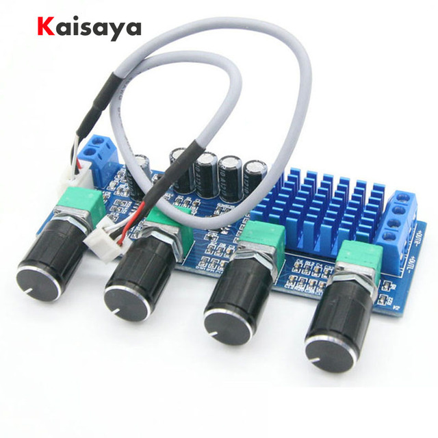 Dual channel stereo Digital Audio TPA3116D2 80W*2 Treble Bass Regulating Preset Preamplifier Board Amplificador B4 003