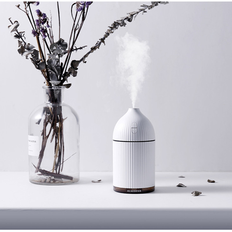 300ML USB Air Humidifier Essential Oil Diffuser Home Aromatherapy Atomizer Ultrasonic Air Humidifier Mist Maker with LED Light