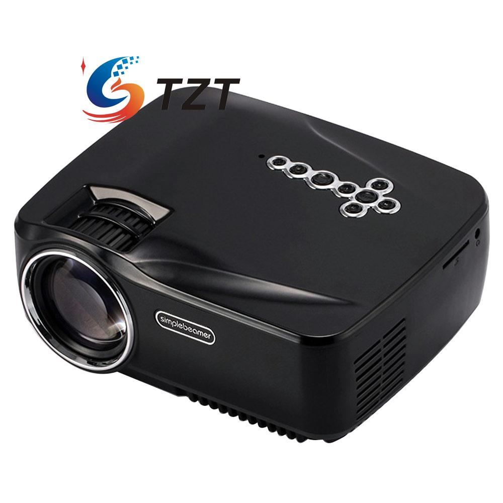 GP70 Mini Full HD 1080P LED Projector Home Cinema Theater Multimedia Player USB portable mini projector home cinema digital smart led projectors support 1080p movie pc video game can use mobile power supply