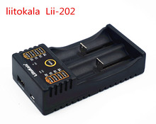 Liitokala 100% lii-202 carregador para 1.2 V/3 V/3.7 V/4.25 V 18650/26650/18350/16340/18500/AA/AAA Ni MH bateria recar