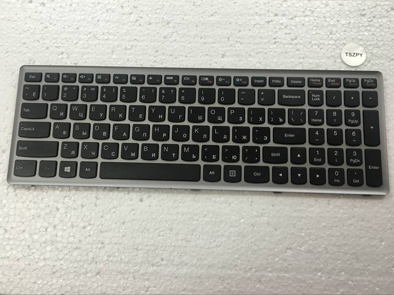 New Russian Keyboard black for Lenovo Ideapad Z500 Z500A Z500G P500 laptop RU Keyboard with silver frame new russian ru laptop keyboard for lenovo ideapad flex 15 flex15 g500s g505s s500 s510 s510p z510 silver grey frame with backlit