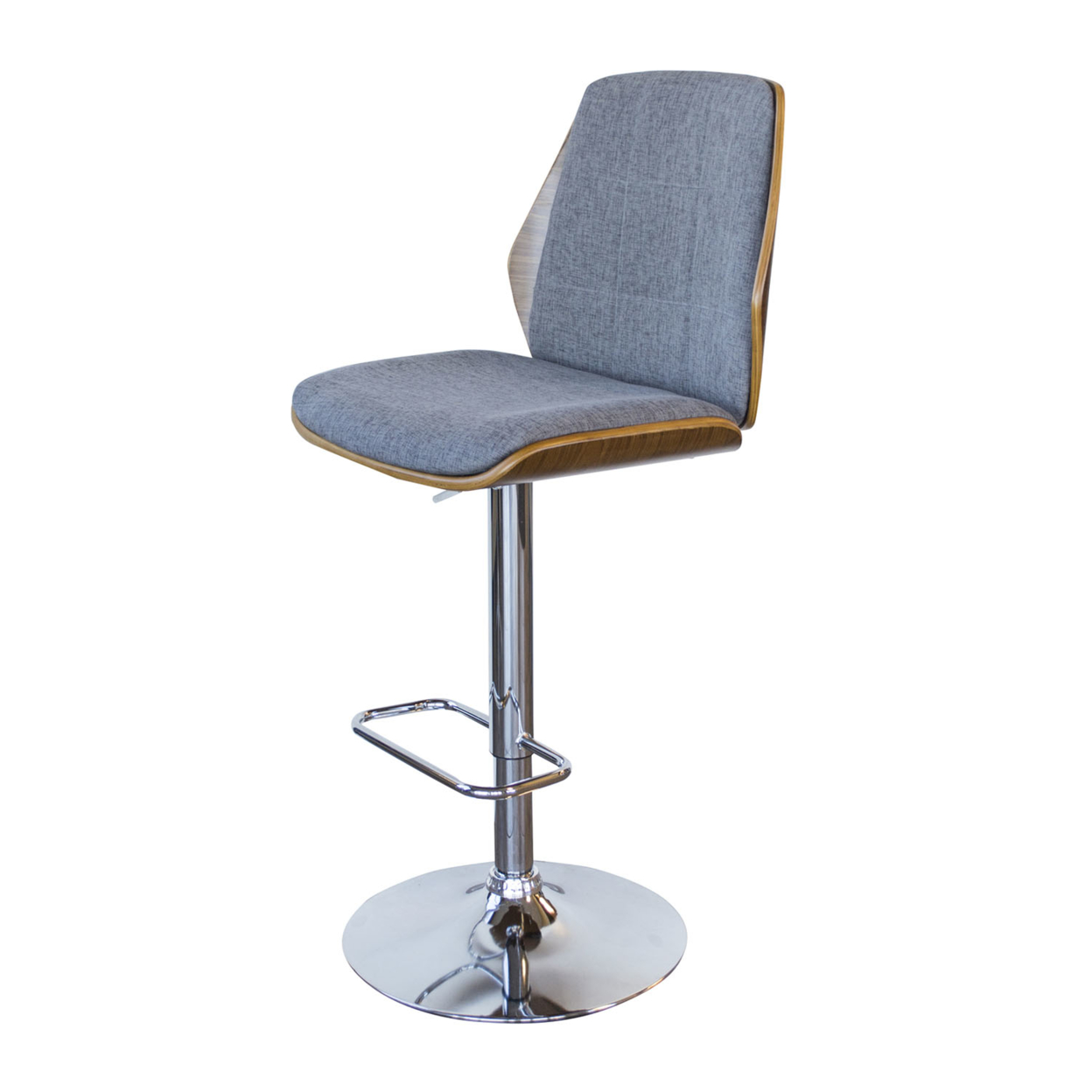 AmeriHome Bent Wood Slate Fabric Bar Stool ...