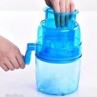 1 1L Portable Hand Crank Manual Ice Crusher Shaver Shredding Snow Cone Maker Machine Kitchen Appliance