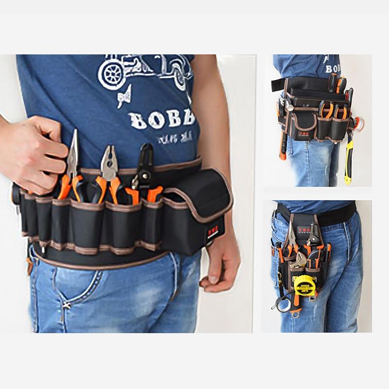 AIRAJ Hardware Bolsa de almacenamiento de herramientas de cintura con - Almacenamiento de herramientas - foto 2