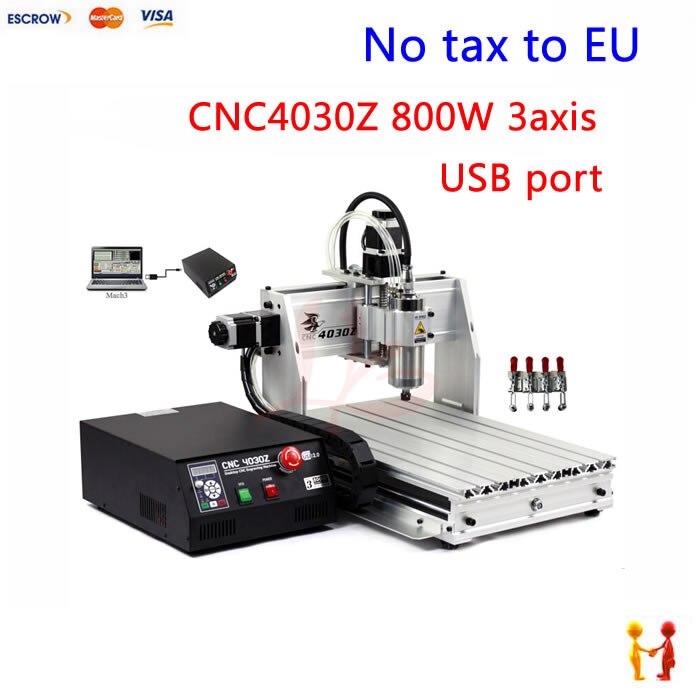 (no tax to eu) desktop mini cnc drilling machine 3040 800w mach3 control work area 285*395*68mm