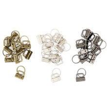 10 шт. 25 мм Металлический Брелок Сплит кольцо для наручных браслетов хлопок хвост клип набор для брелоков