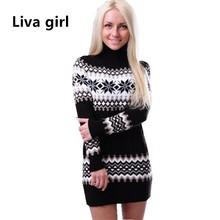 Women Turtleneck Winter Sweater Women 2017 Long Sleeve Knitted Women Sweaters And Pullovers Female Jumper Tricot Tops WT2906
