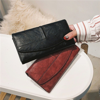 Trifold Long PU Leather Clutch 1