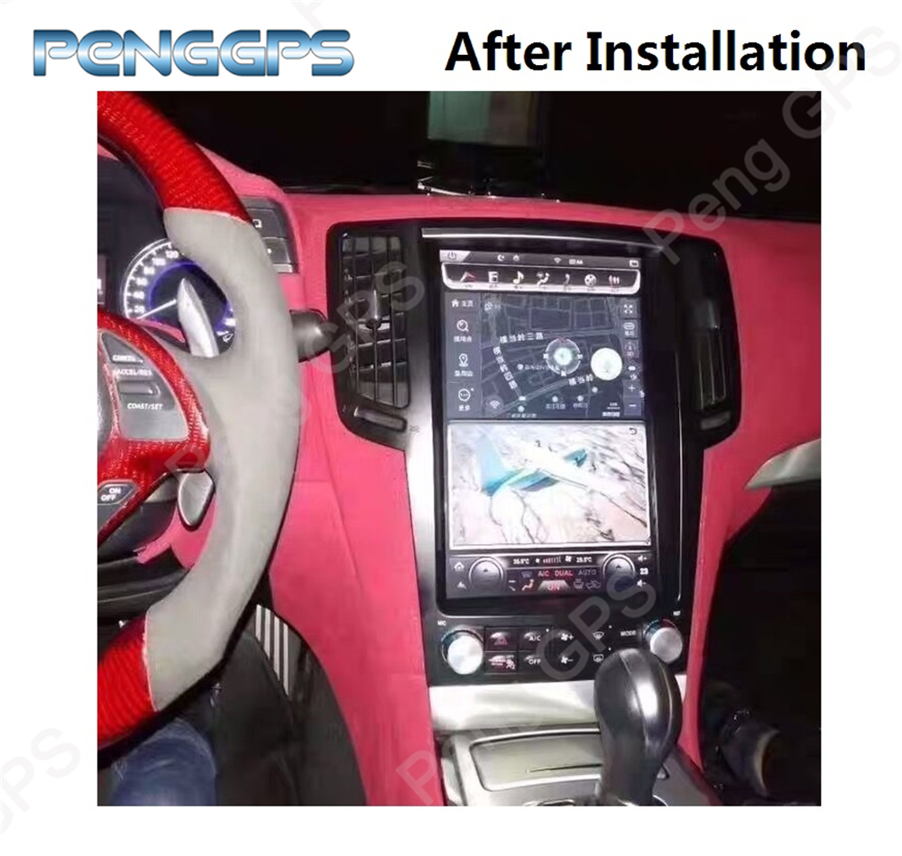 6 Core Tesla Style 13 6 Inch Android 8 1 DVD Player GPS Navigation for Infiniti