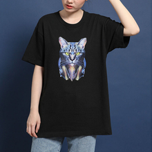 hot deal buy hillbilly ulzzang tee shirts women 2019 cotton cool music cat t shirts for women plus size black casual short sleeve t-shirts