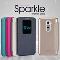 Case For LG G2 (D802) NILLKIN sparkle flip PU Leather with smart view window hard plastic back cover NEW LEATHER CASE