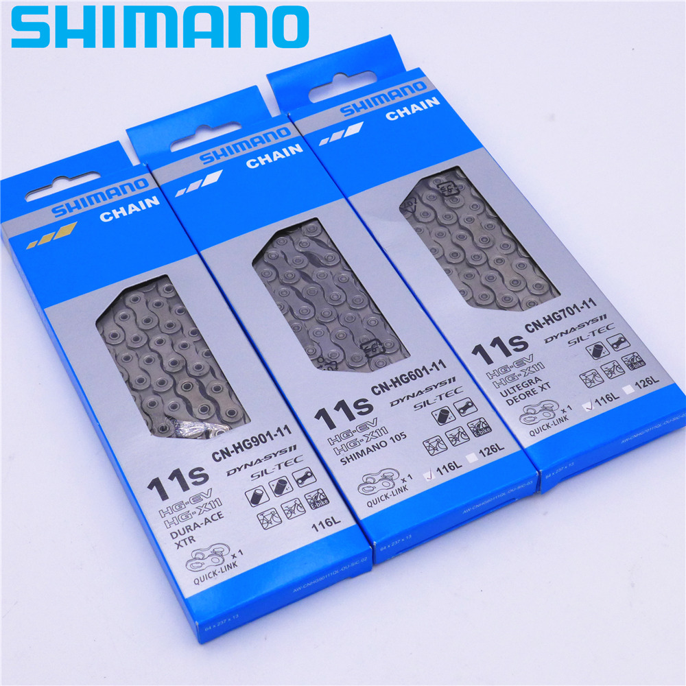 Shimano CN-HG601 11-Speed SIL-TEC Surface Treatment Chain with Quick Link