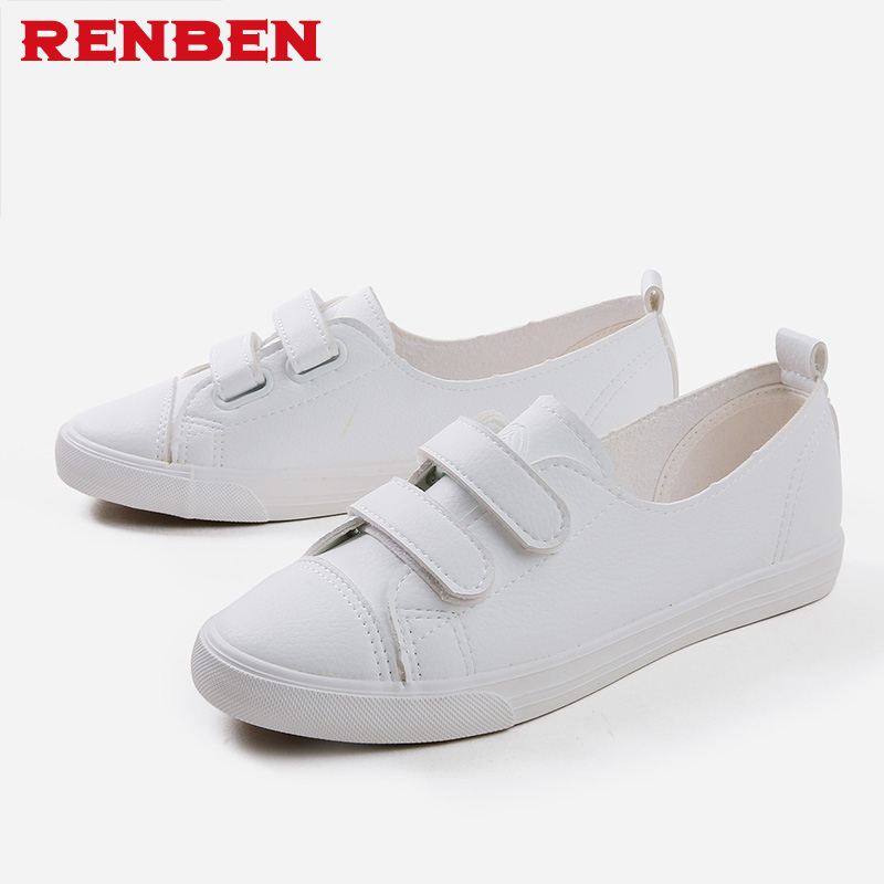 Hook loop women shoes breathable white shoes mixed colors fabric fashion shoes sewing rubber sneakers women non-slip